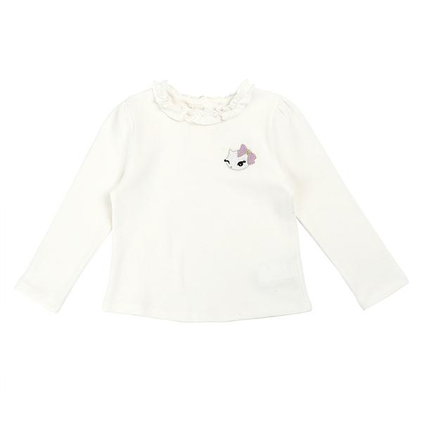 프렌치캣 여아용 프릴장식 티셔츠