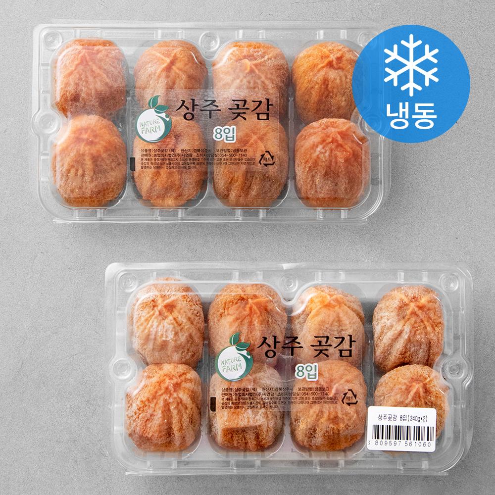 [곶감] 네추럴팜 상주 실속 전통곶감 대과 (냉동), 340g(8입), 2팩 - 랭킹1위 (20900원)