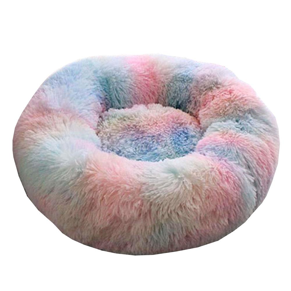 반려동물 소프트 꿀잠 도넛방석, 레인보우