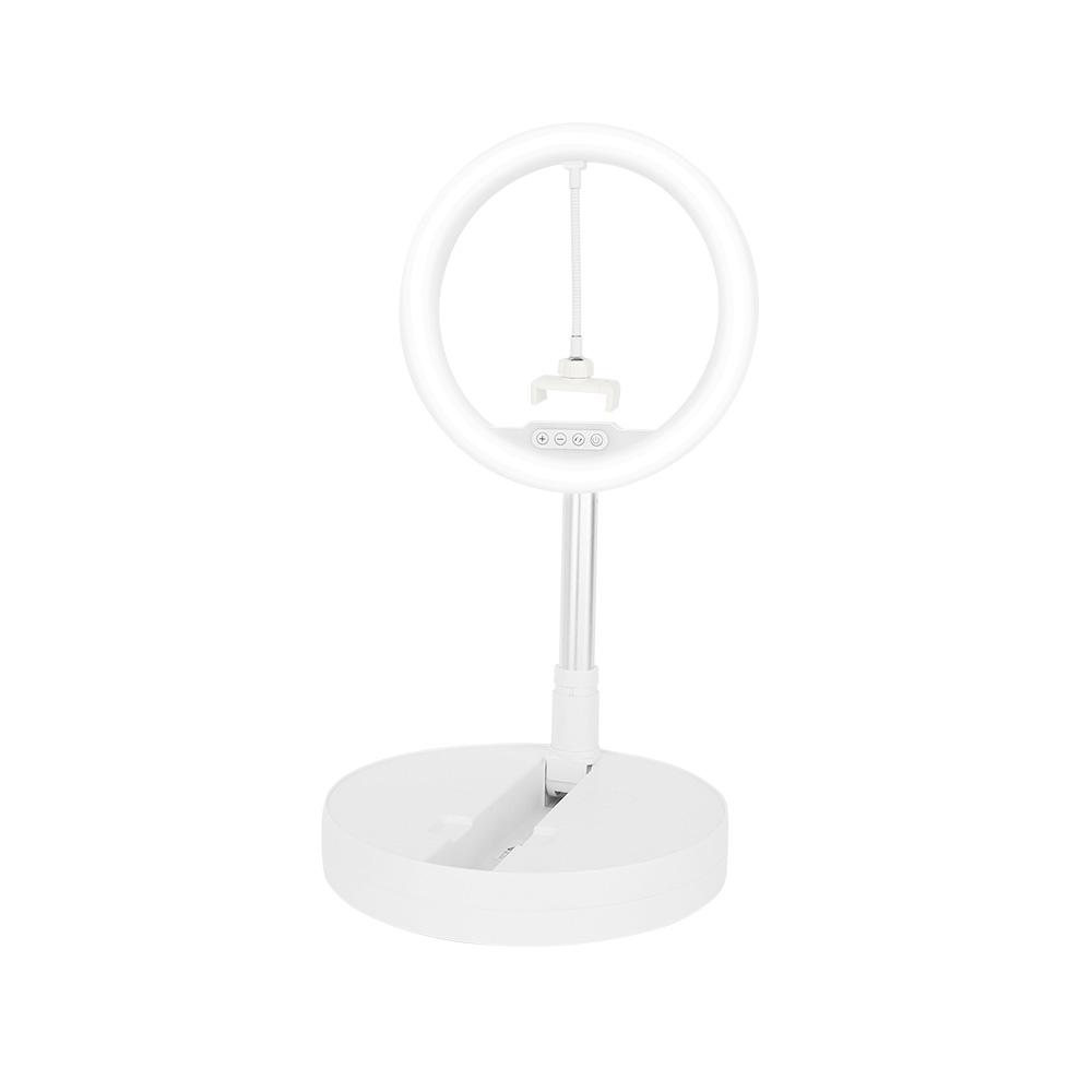 컴썸 휴대용 접이식 링라이트 조명 화이트, LED-270, 1개