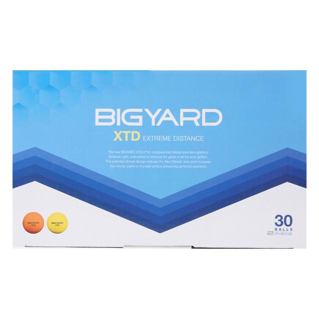 빅야드 XTD 골프공 2피스 42.7mm, 오렌지, 옐로우, 1세트