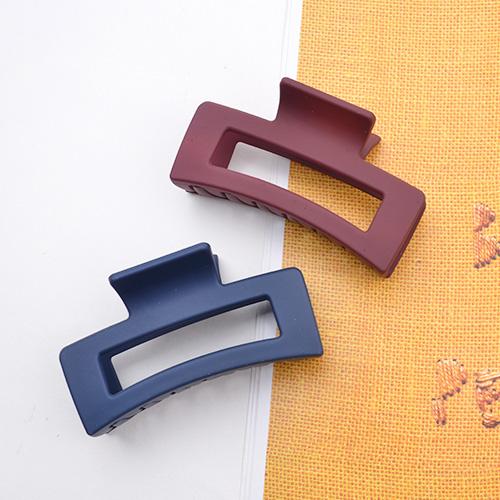 메르시밴드 무광사각 집게핀 2종세트[1+1+1 무배] 워더미 가을 무광 톤다운 컬러 꼬임 올림머리 반머리 집게핀 세트 F241