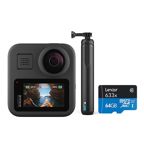 고프로 MAX 360도 촬영 액션캠 SPCC1 + 그립 + 삼각대 + 64GB 메모리카드 세트
