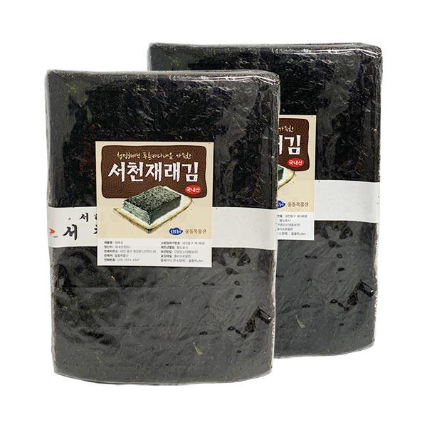 울돌목 재래김 100매, 220g, 2개