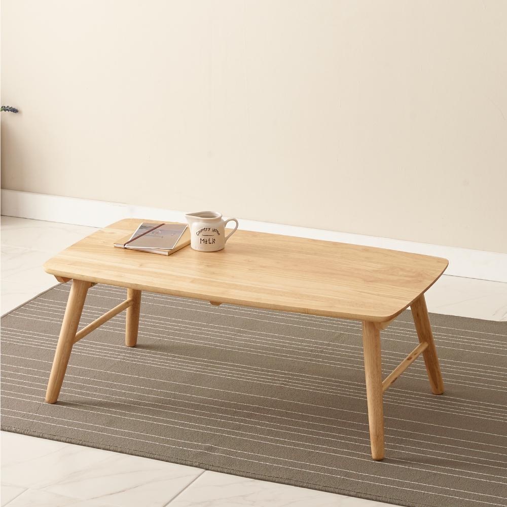 조은세상 고무나무 원목 테이블 900 x 500 mm, 내추럴