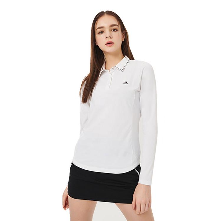 아디다스골프 여성용 골프 20SS 프로텍션360 긴팔 폴로셔츠 EW8184, 화이트