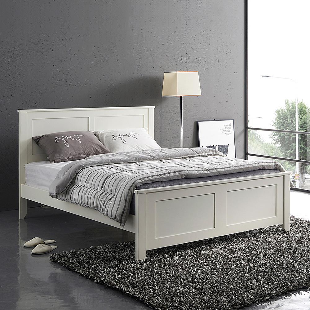 로제원목 침대 + 헤이븐 고급형 매트리스 방문설치, 크림화이트
