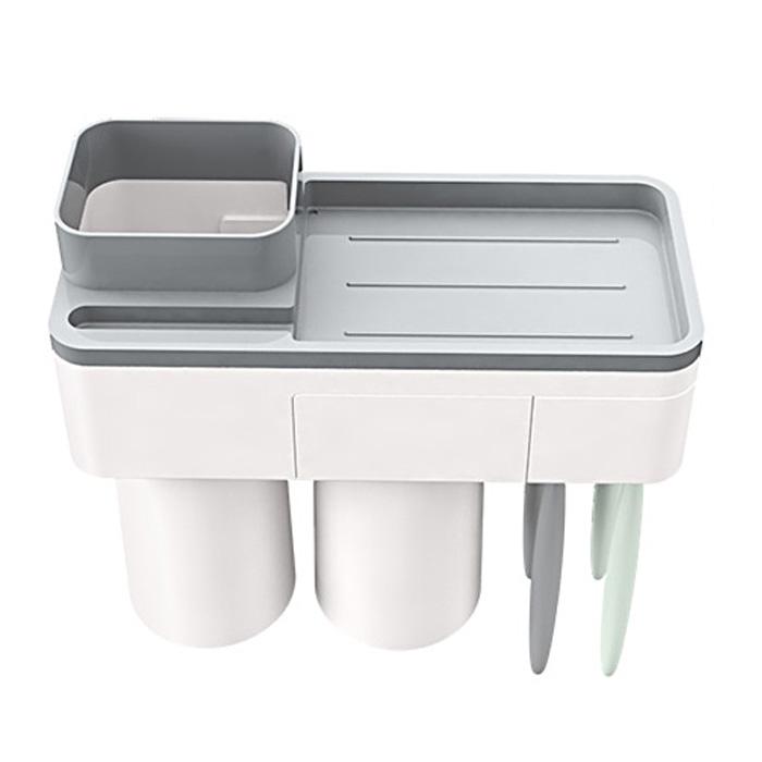 달팽이리빙 수납형 칫솔걸이 양치컵 2구세트, 단일색상, 1세트