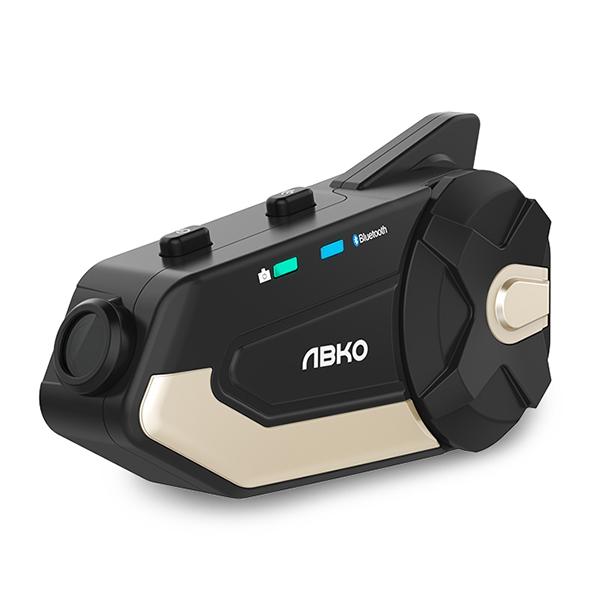 앱코 Tplex 카메라형 블랙박스 오토바이 바이크 헬멧 블루투스 헤드셋, 골드블랙, 단일상품