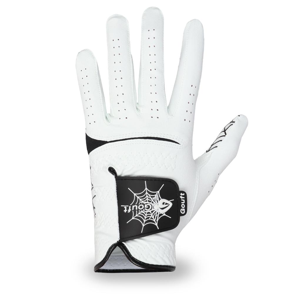 고프트 남성용 스파이더웹 화이트 에디션 골프장갑 왼손착용 SWG, 블랙