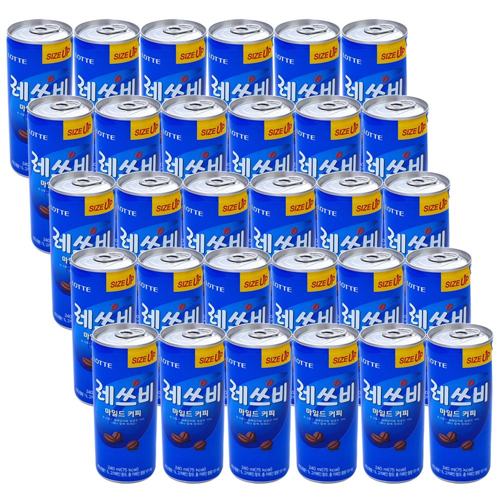 롯데칠성음료 레쓰비 마일드 커피음료, 240ml, 30캔