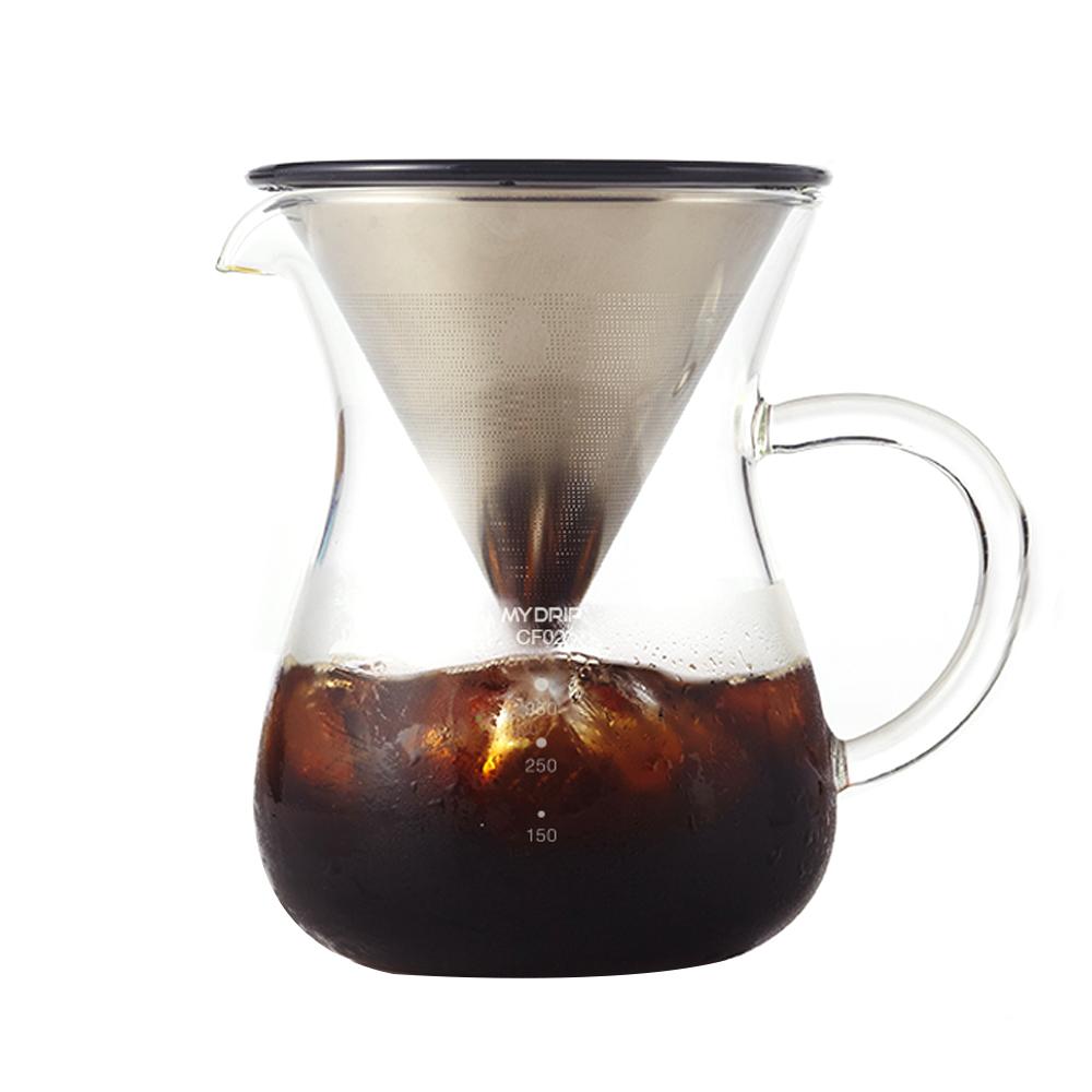 빈플러스 커피 일체형 핸드드립 세트, 혼합색상, 1세트