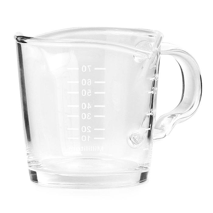 코빙 에스프레소 손잡이 유리 더블 샷잔 70ml, 1개