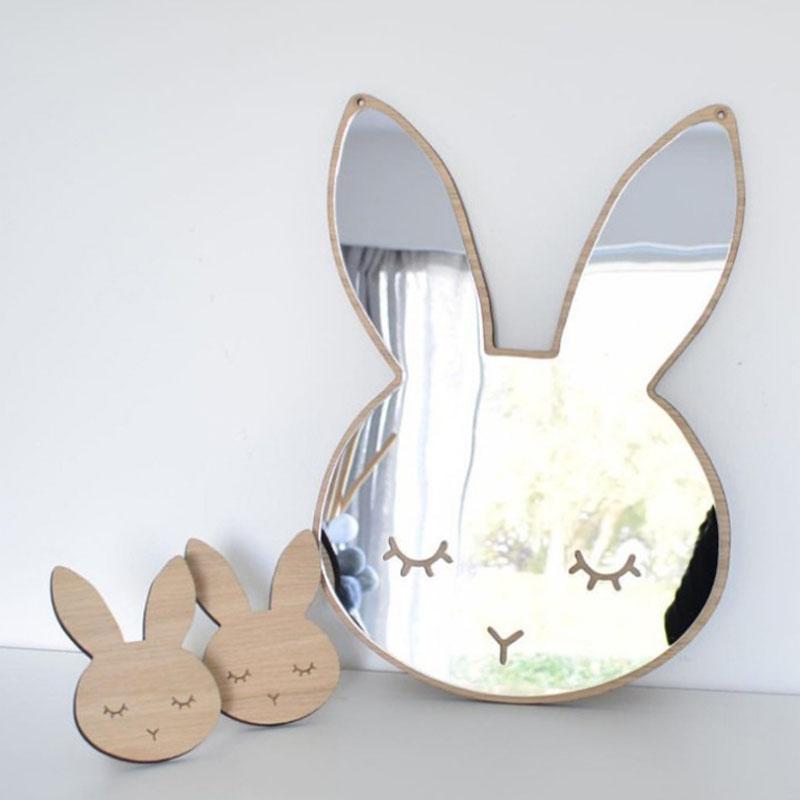 바이마트 원목 아크릴 안전거울 토끼, 혼합색상
