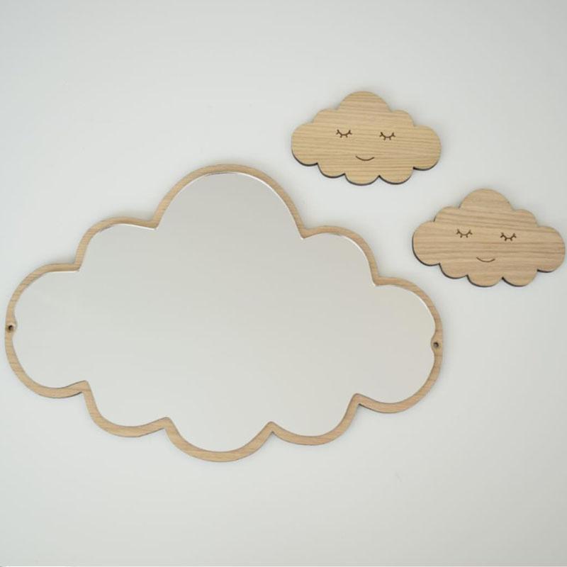바이마트 원목 아크릴 안전거울 구름, 혼합색상