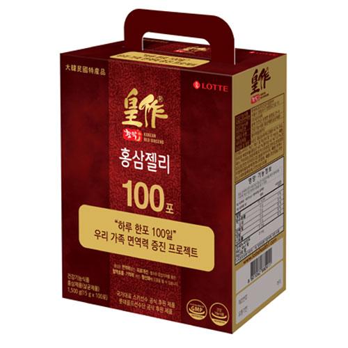 롯데헬스원 황작 홍삼젤리, 15g, 100개