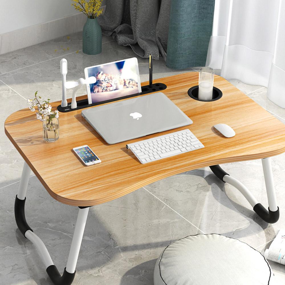 탑리빙 USB 노트북테이블 + 선풍기 + 라이트, 호두