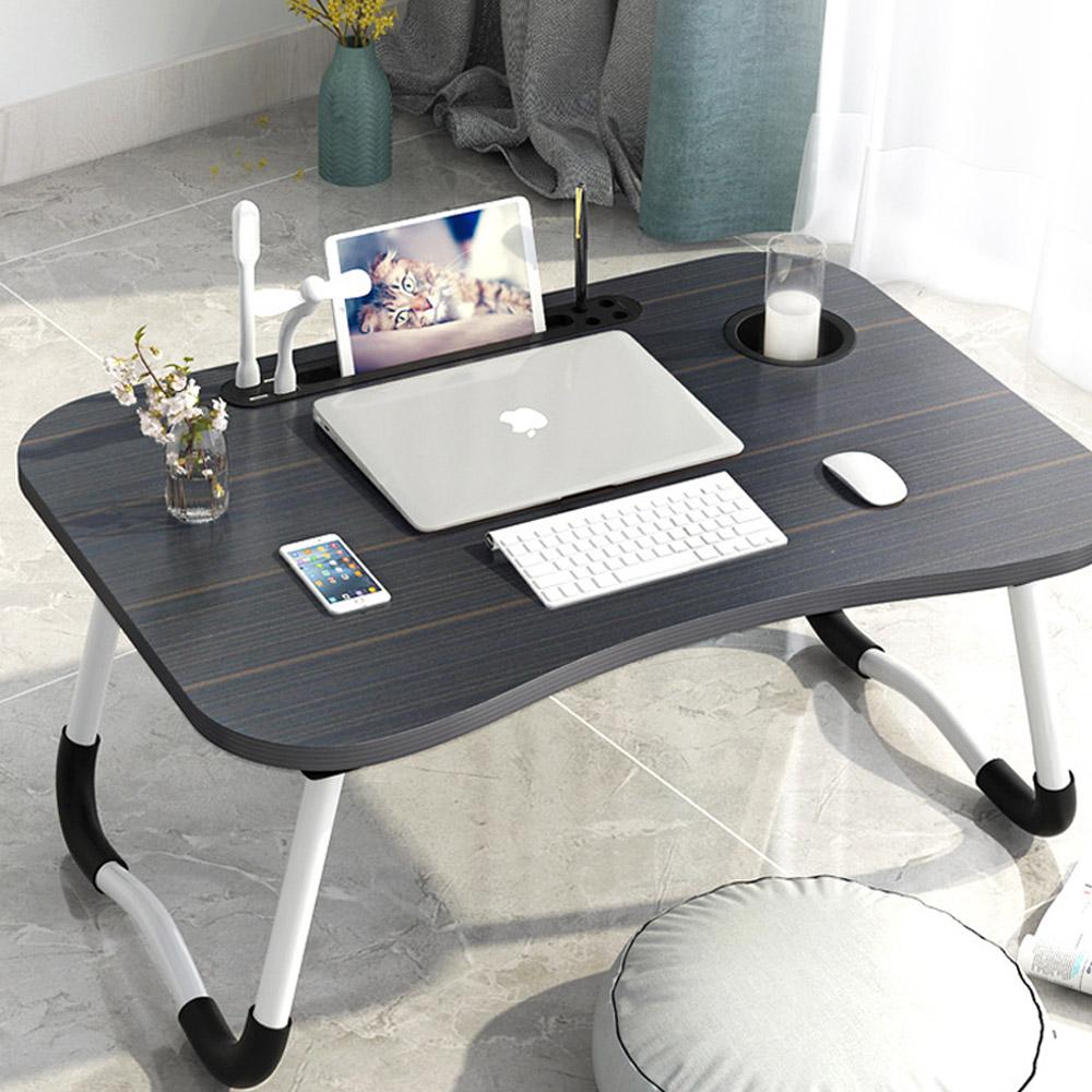 탑리빙 USB 노트북테이블 + 선풍기 + 라이트, 블랙
