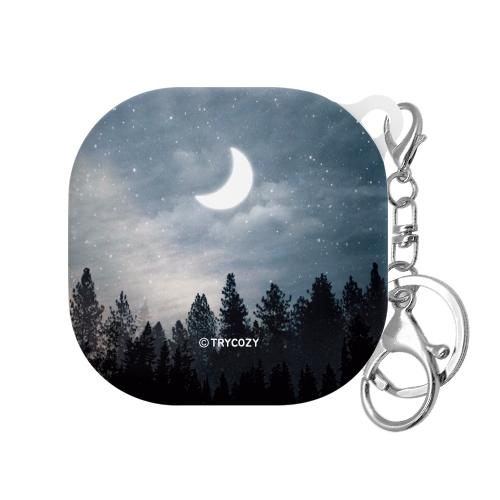 트라이코지 밤하늘달 갤럭시버즈 라이브 하드케이스, 단일상품, 001