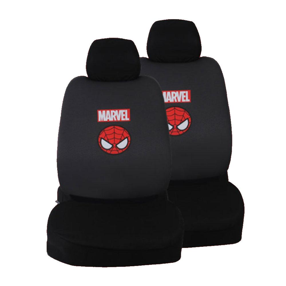마블 차량용 패턴 패션시트 앞좌석, 스파이더맨, 2개
