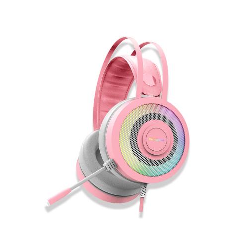 마이크로닉스 MANIC 7.1CH 노이즈 캔슬링 마이크 헤드셋, HS-420, 핑크