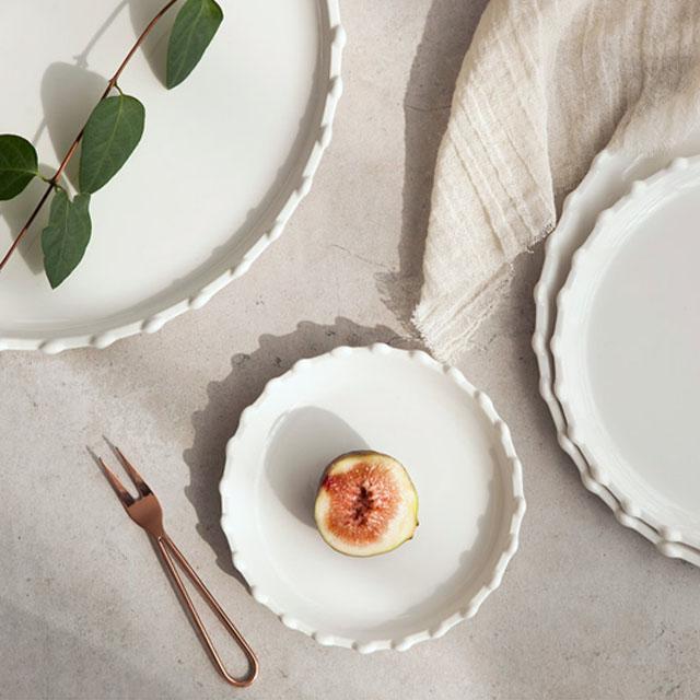 로얄애덜리 스노우 접시세트, 1세트, 접시 소 5p