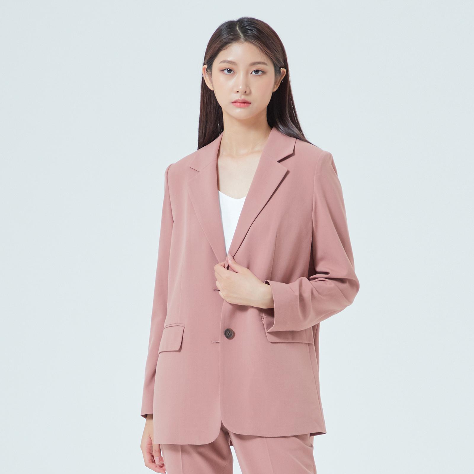 미쏘 여성용 테일러드 일자핏 싱글 자켓