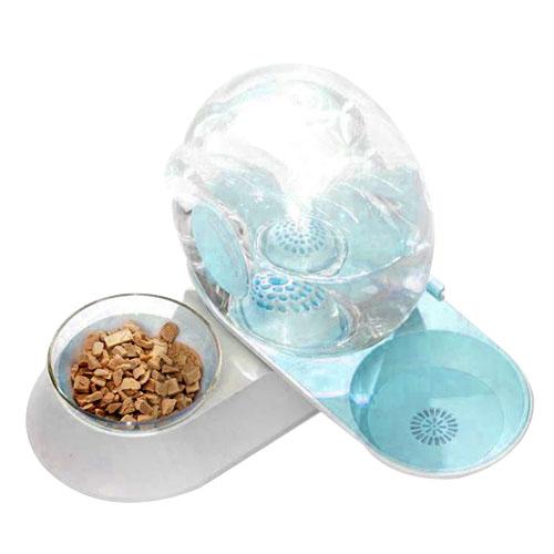 논다 달팽이 자동 급수 급식기, 블루, 1개