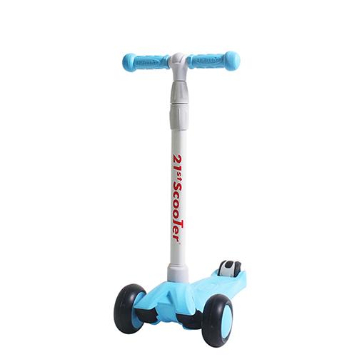21st 광폭 LED휠 루디 아동용 킥보드, 블루