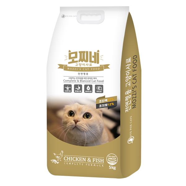 모찌네 전연령용 고양이 건식사료, 닭, 5kg