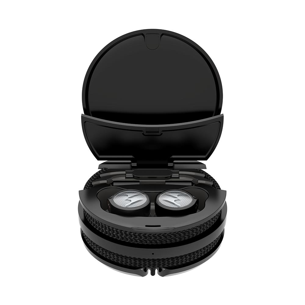 모토로라 Tech3 3in1 블루투스 이어폰, SH055, 티타늄 블랙