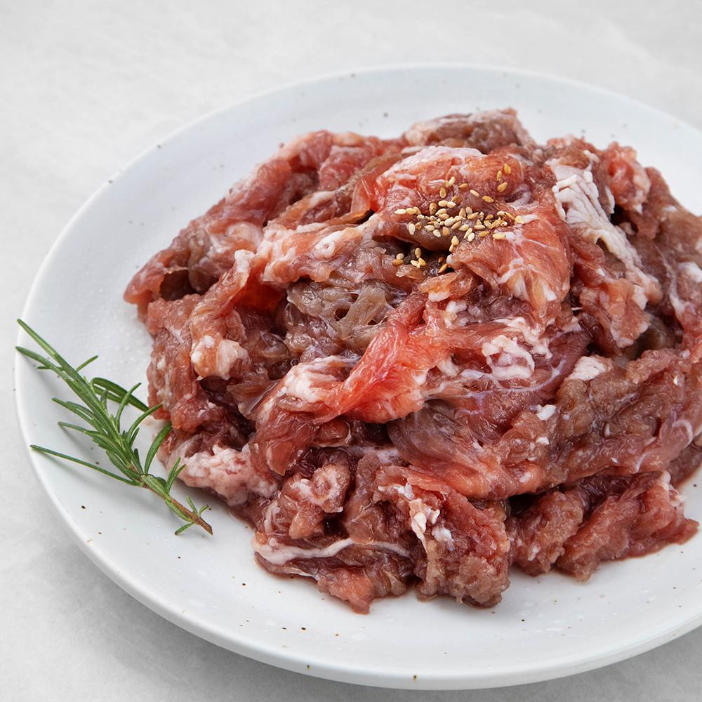 모아미트 순삭 진짜 부드러운 차돌양지 양념 소불고기 (냉장), 1kg, 1개