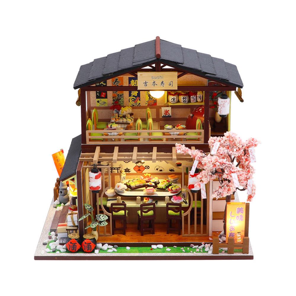 초밥집 풀하우스 미니어처 DIY 키트, 혼합색상
