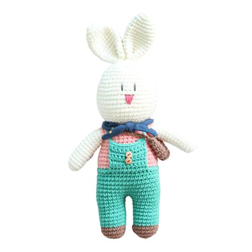 하비풀 손뜨개 토끼인형 만들기 뜨개질 DIY 패키지, 1세트, 혼합색상
