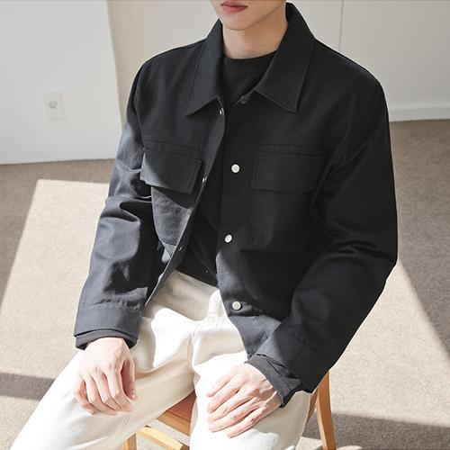 맨타임 남성용 TP 코튼 데일리 트러커 재킷