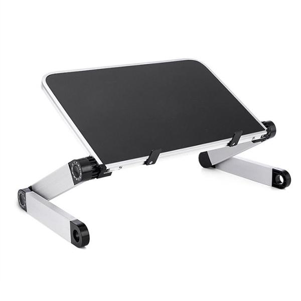 키밍 다용도 높이조절 접이식 노트북 거치대, 블랙