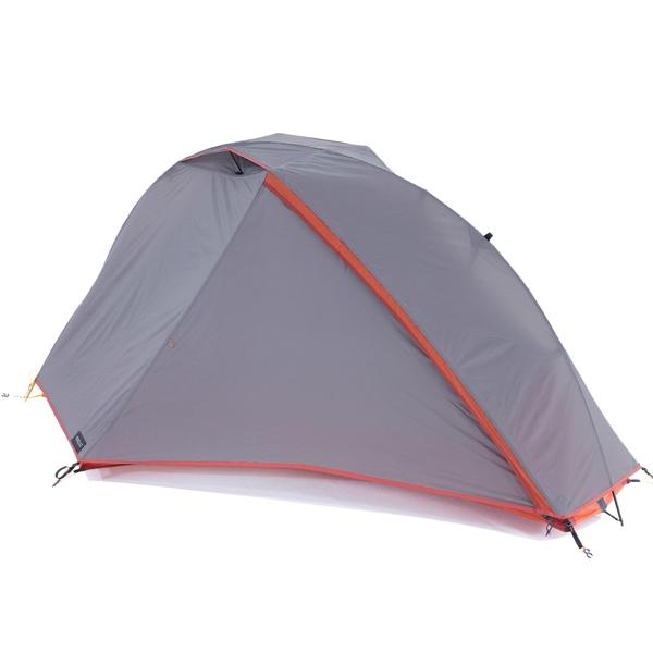 데카트론 자립형 트레킹 캠핑 텐트 TREK 900, 그레이, 1인용
