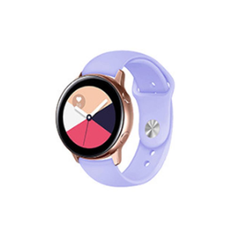 코쿼드 갤럭시 액티브 1/2/워치3 20mm 시계줄 싱글버클 실리콘밴드 (40/41/42mm 호환 가능), 라일락, 1개