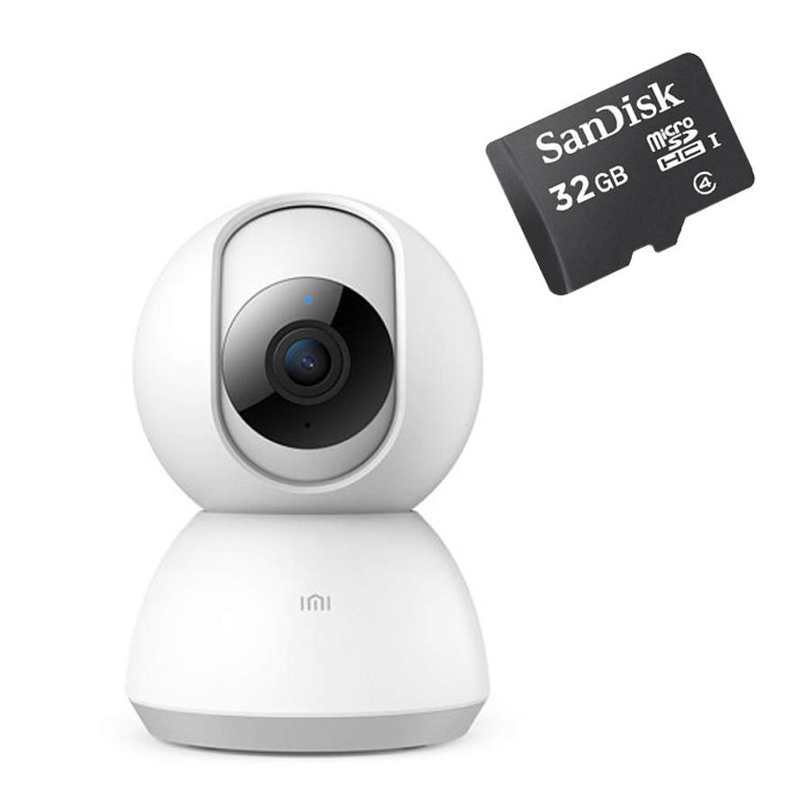 샤오미 미지아 홈 1080P CCTV 실내용 + 32GB 메모리카드 세트, IPC-013