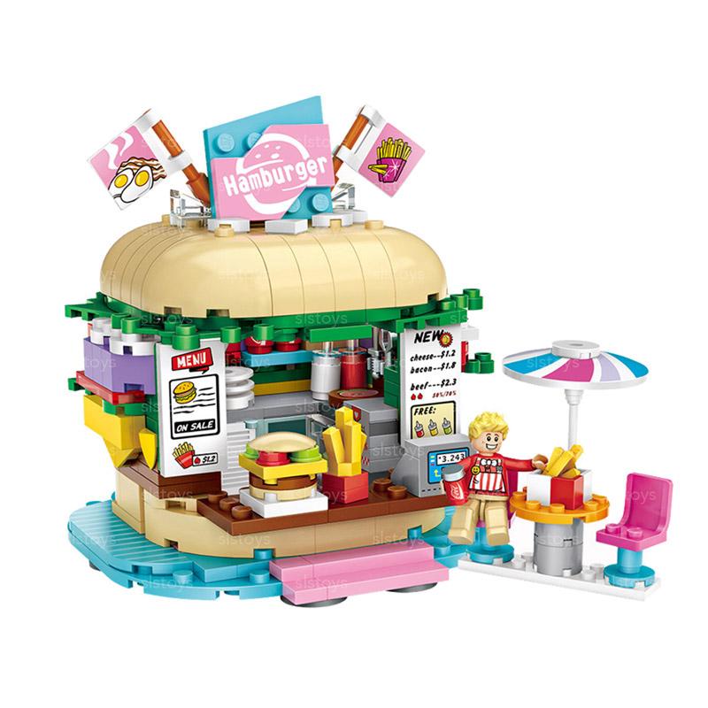 LOZ 햄버거가게 미니블럭 1730loz, 혼합색상