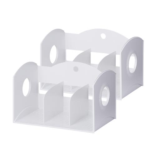 리템 멀티 3단 책꽂이 2p, WHITE