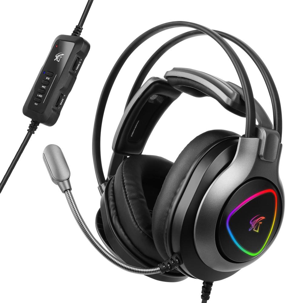 hacker 앱코 RGB 게이밍 헤드셋, N950H, 블랙