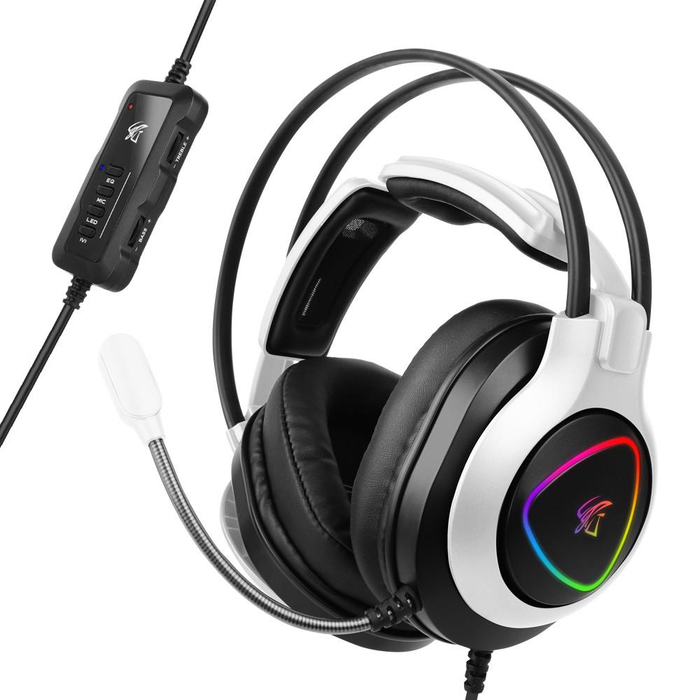 hacker 앱코 RGB 게이밍 헤드셋, N950H, 화이트