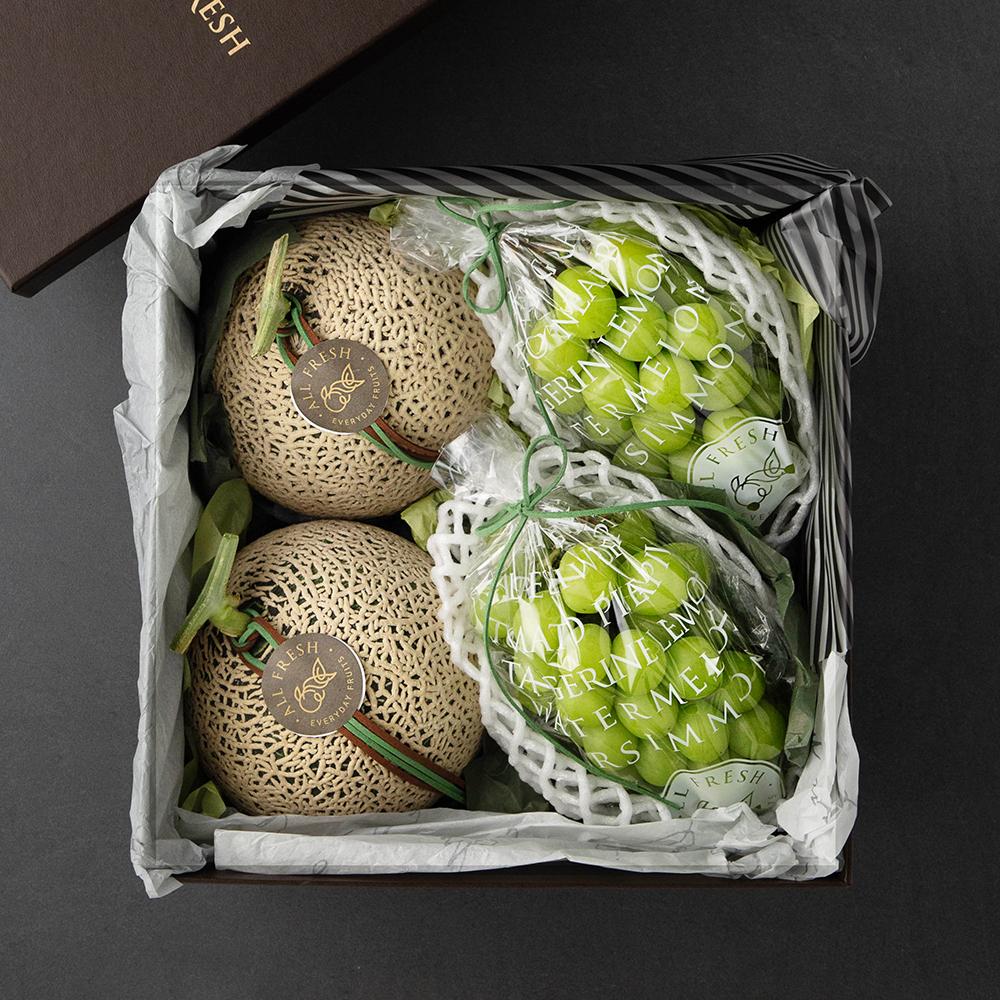 올프레쉬 프리미엄 샤인머스켓 1.1kg + 멜론 3.2kg 선물세트 2호, 1세트