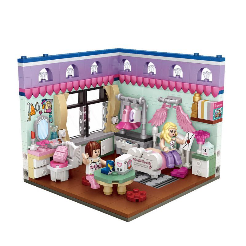LOZ 핑크집만들기 미니블럭 1902loz, 혼합색상