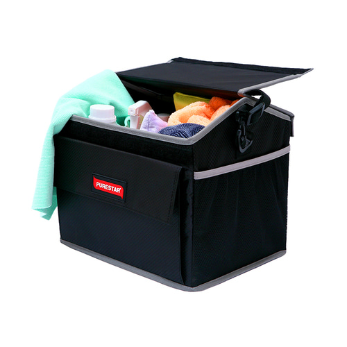 PURESTAR 툴박스 자동차 트렁크 정리함, Black (POP 4649660468)