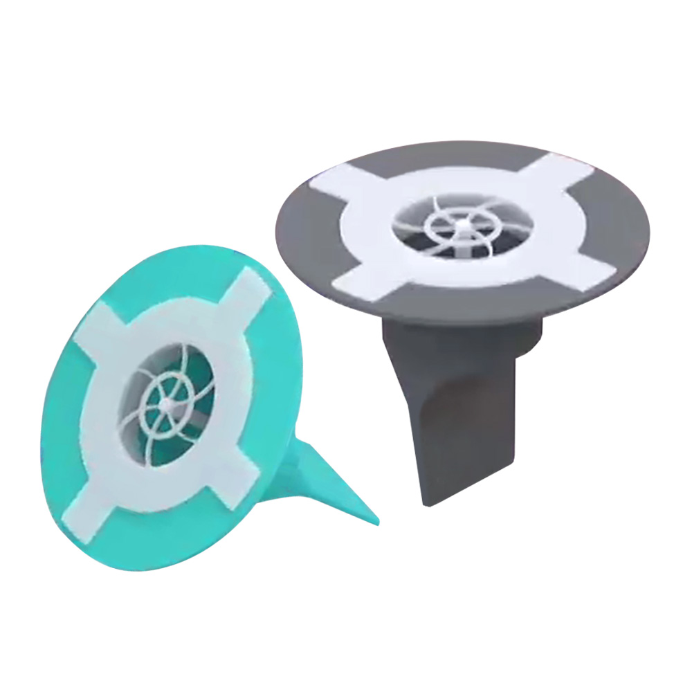 에코웨이 다막아 하수구 트랩 욕실용 민트 + 그레이, 1세트