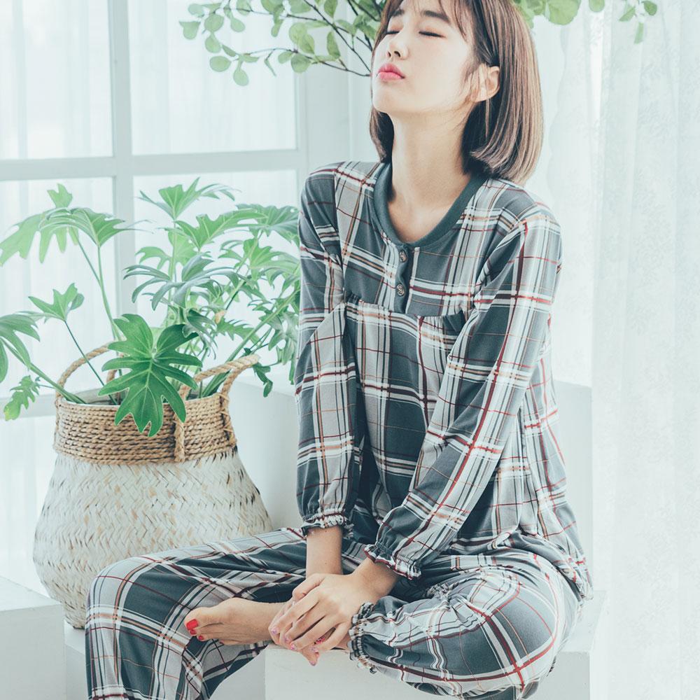 도씨 여성용 피치기모 긴팔 잠옷 상하세트