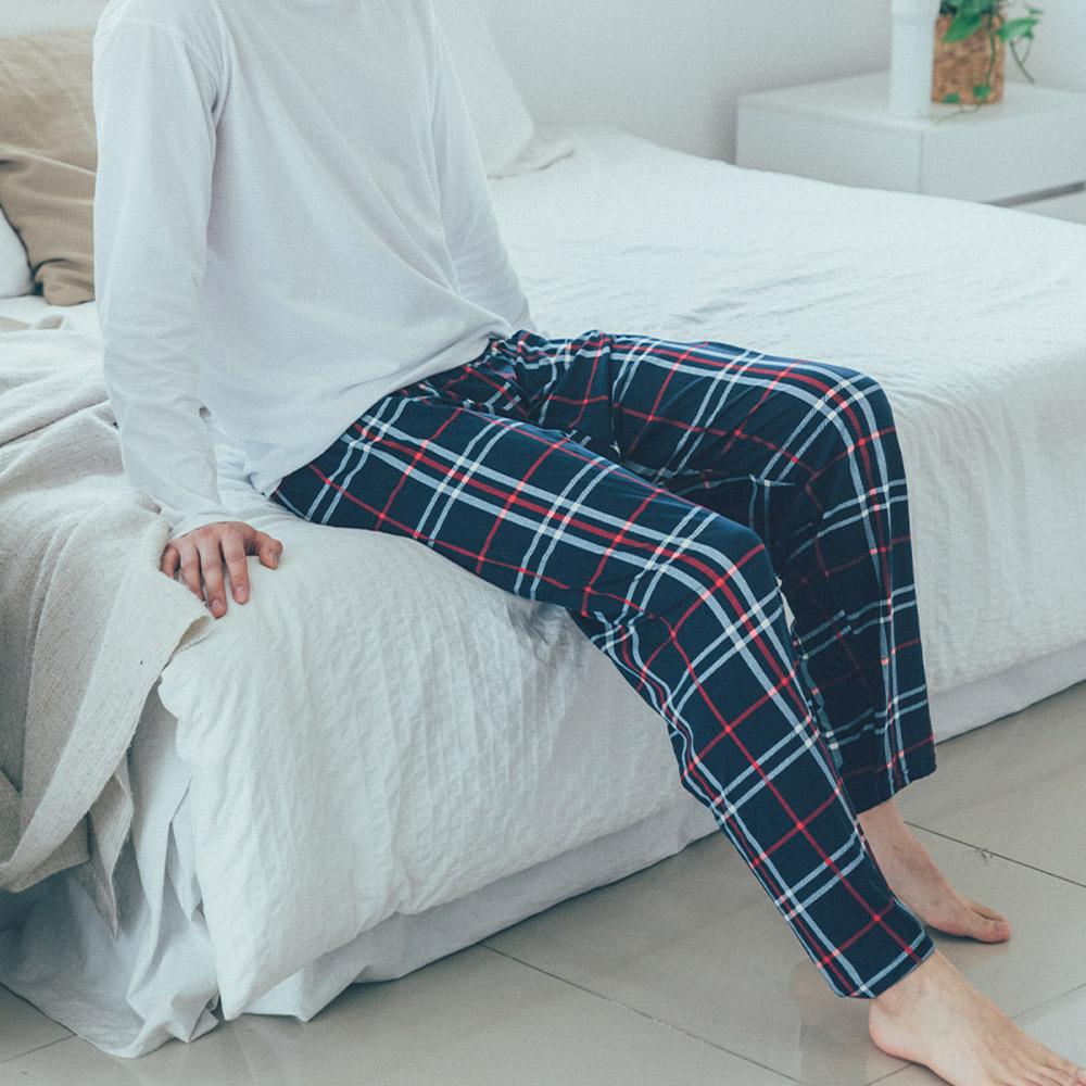 도씨 남성용 피치기모 9부 잠옷 바지