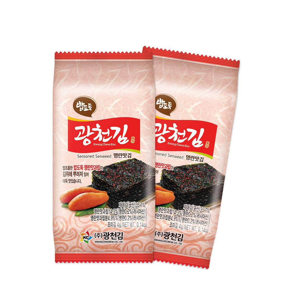 광천김 밥도둑 명란 도시락김, 4g, 60개